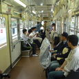 8早稲田駅からの車内(2)