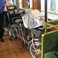 7 車いすスペースに自転車をとめました